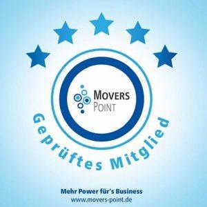 Geprüftes Mitgleid von Movers Point - Mehr Power für's Business