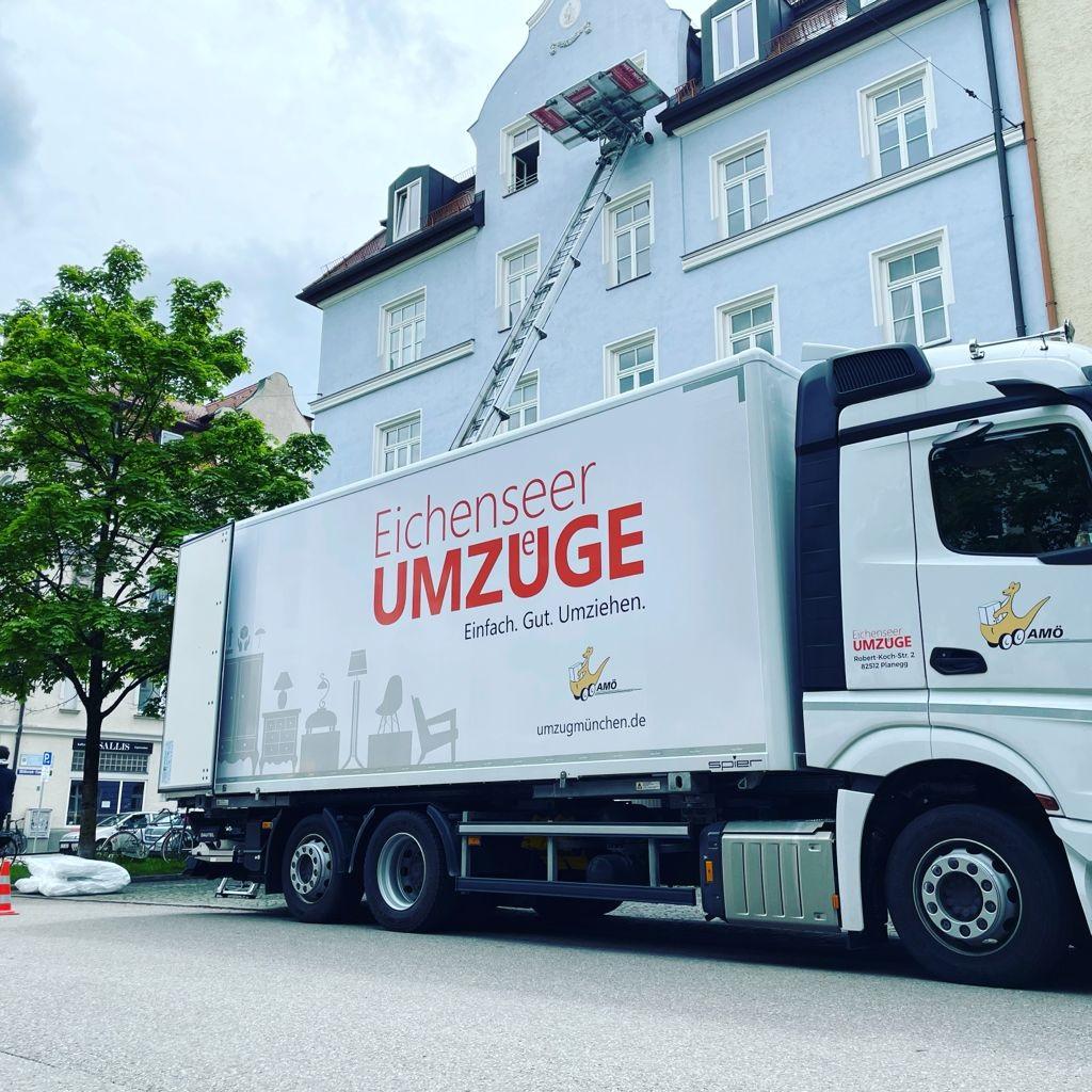 Umzug in München mit der Umzugsfirma Eichensser
